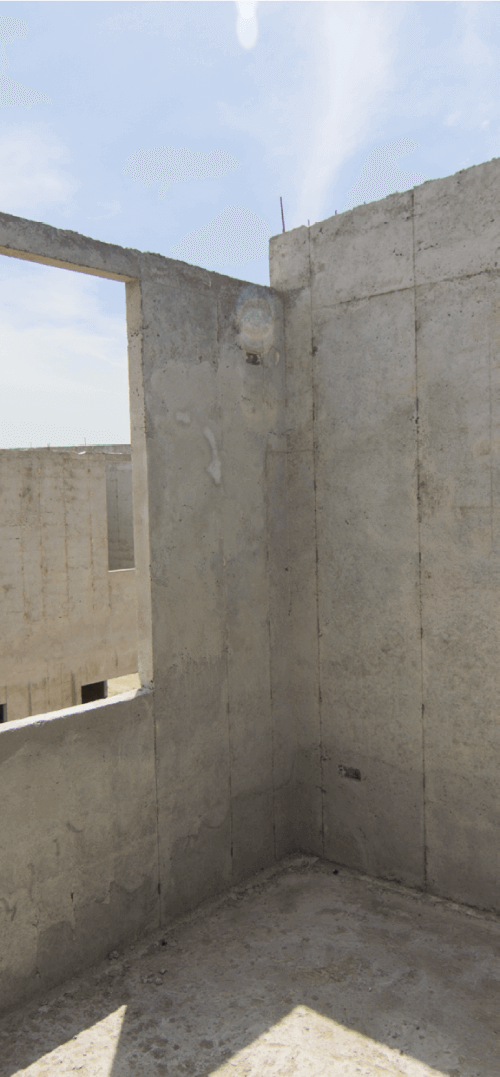 Lightweight low-density resistant concrete
