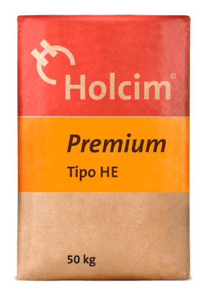 Cement Holcim Premium Type HE, manufactured to obtain high initial strengths, is ideal for buildings and industrial systems.